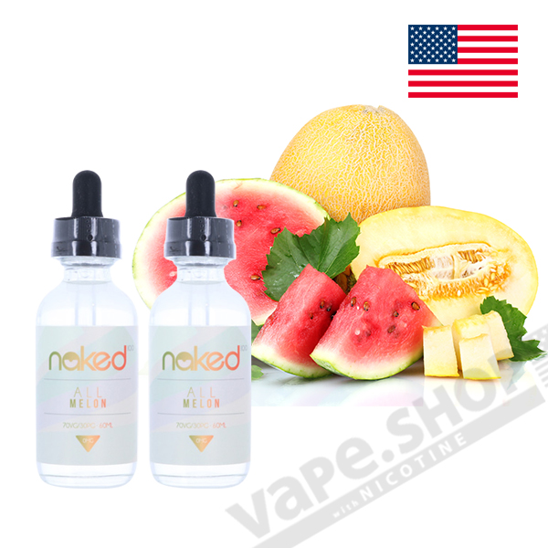 Naked100 All Melon 60ml 3mg 2本セット