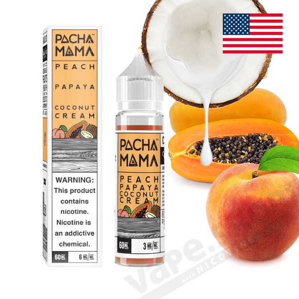 【PACHAMAMA】Peach Papaya Coconut Cream(ピーチ・パパイヤ・ココナッツ)60ml