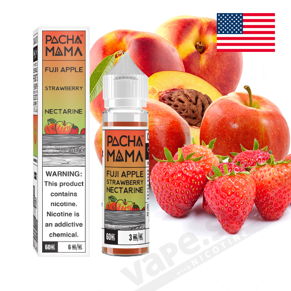 【PACHAMAMA】Fuji Apple Strawberry Nectarine(富士リンゴ・ストロベリー)60ml