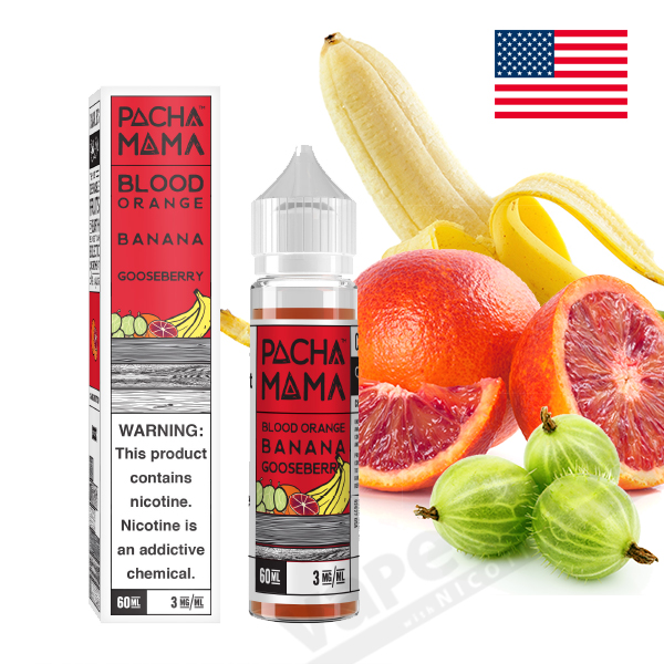 【PACHAMAMA】Blood Orange Banana Gooseberry(オレンジ・バナナ・ベリー)60ml